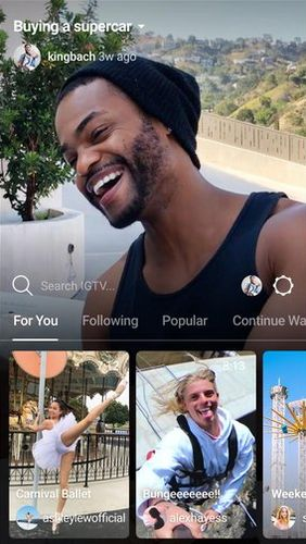 IGTV app for Android, download programs for phones and tablets for free.