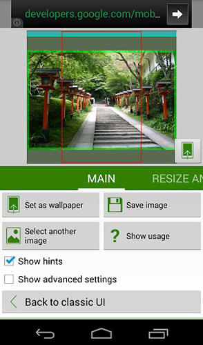 Screenshots of Image 2 wallpaper program for Android phone or tablet.