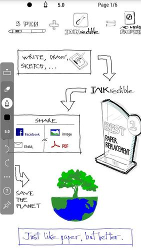 Les captures d'écran du programme INKredible - Handwriting note pour le portable ou la tablette Android.