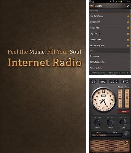 Besides Gravity screen Android program you can download Internet Radio for Android phone or tablet for free.