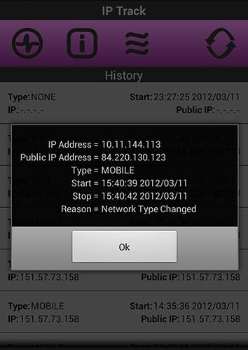 IP Track app for Android, download programs for phones and tablets for free.