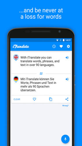 iTranslate: Translator app for Android, download programs for phones and tablets for free.