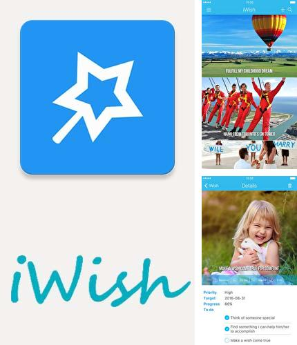 Besides Transparent clock and weather Android program you can download iWish - Life goals, bucket list for Android phone or tablet for free.