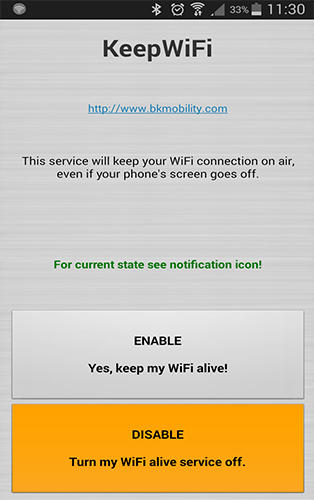 Keep WiFi app for Android, download programs for phones and tablets for free.