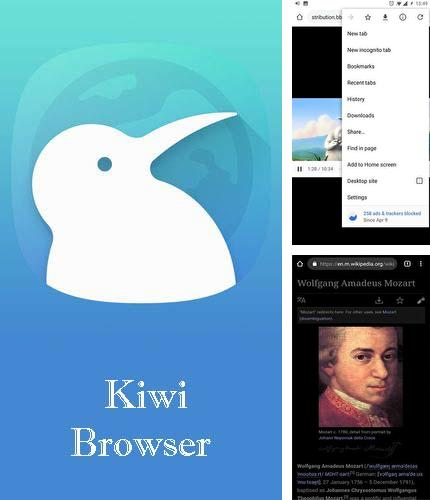 Besides Slovoed: English russian dictionary deluxe Android program you can download Kiwi browser - Fast & quiet for Android phone or tablet for free.