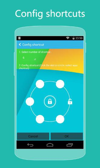 Screenshots des Programms KK Locker für Android-Smartphones oder Tablets.