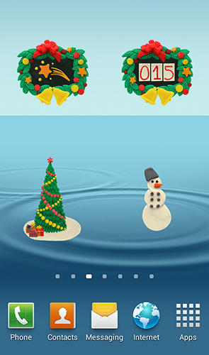 Screenshots of KM Christmas countdown widgets program for Android phone or tablet.