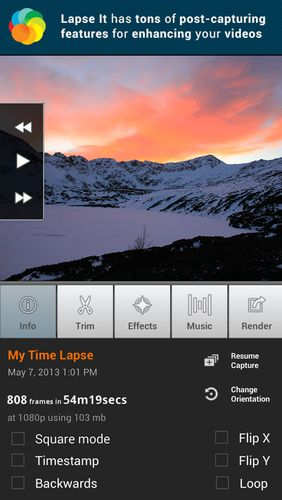 Lapse it: Time lapse camera app for Android, download programs for phones and tablets for free.