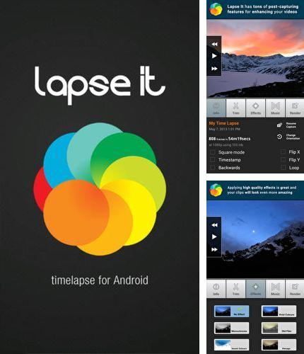 Besides Launchify - Quick app shortcuts Android program you can download Lapse it: Time lapse camera for Android phone or tablet for free.