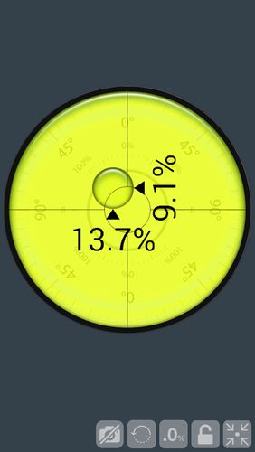 Screenshots of Laser level program for Android phone or tablet.