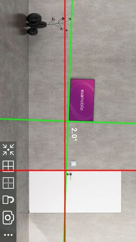 Screenshots des Programms Laser level für Android-Smartphones oder Tablets.