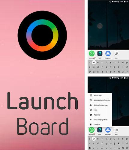 Besides Meteor swipe - Edge sidebar launcher Android program you can download LaunchBoard: Modern app drawer for Android phone or tablet for free.