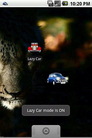 Capturas de tela do programa Lazy Car em celular ou tablete Android.