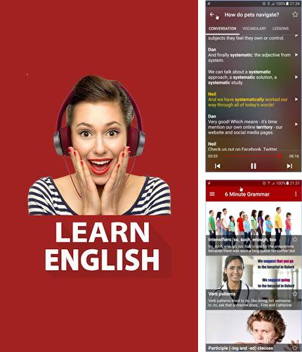 除了Hydro Drink Water Android程序可以下载Learn english by listening BBC的Andr​​oid手机或平板电脑是免费的。