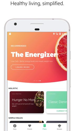 Screenshots of Lifesum: Healthy lifestyle, diet & meal planner program for Android phone or tablet.