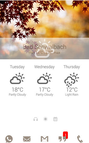 Screenshots des Programms Lightning launcher für Android-Smartphones oder Tablets.