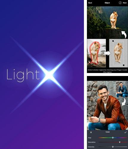 Besides YouTube Android program you can download LightX - Photo editor & photo effects for Android phone or tablet for free.