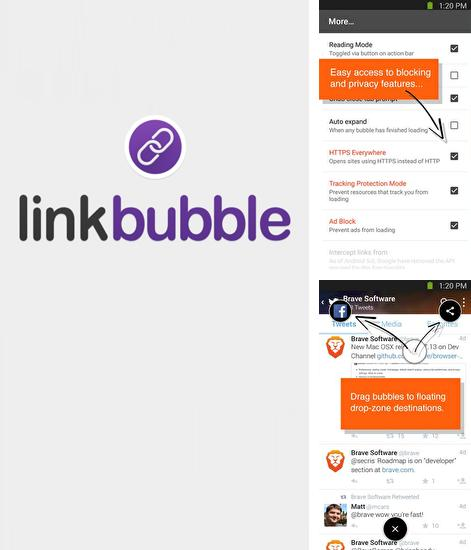 Besides Clean share Android program you can download Link Bubble for Android phone or tablet for free.