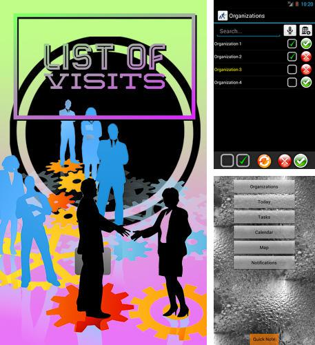 Download List of visits for Android phones and tablets.