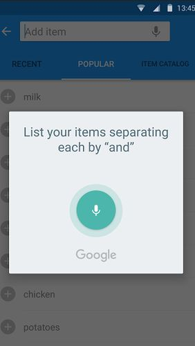 Listonic: Grocery shopping list app for Android, download programs for phones and tablets for free.