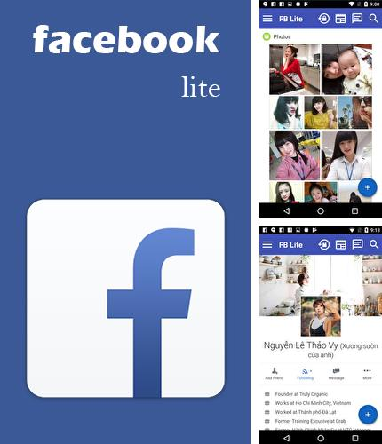 Besides FOTO gallery Android program you can download Lite for Facebook - Security lock for Android phone or tablet for free.