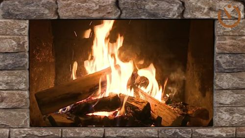Screenshots des Programms Live fireplace für Android-Smartphones oder Tablets.