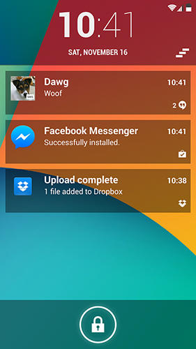 Screenshots des Programms Locker pro lockscreen 2 für Android-Smartphones oder Tablets.