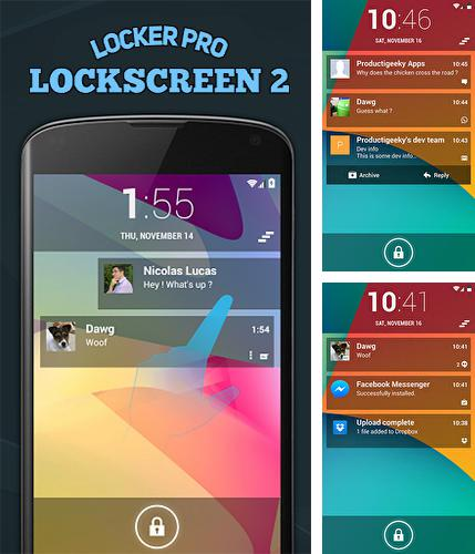 Download Locker pro lockscreen 2 for Android phones and tablets.