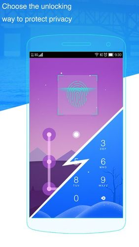Screenshots of LOCKit - App lock, photos vault, fingerprint lock program for Android phone or tablet.