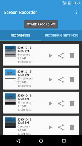Lollipop screen recorder app for Android, download programs for phones and tablets for free.