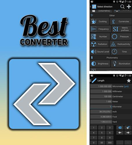 Besides YouTube Android program you can download Best converter for Android phone or tablet for free.