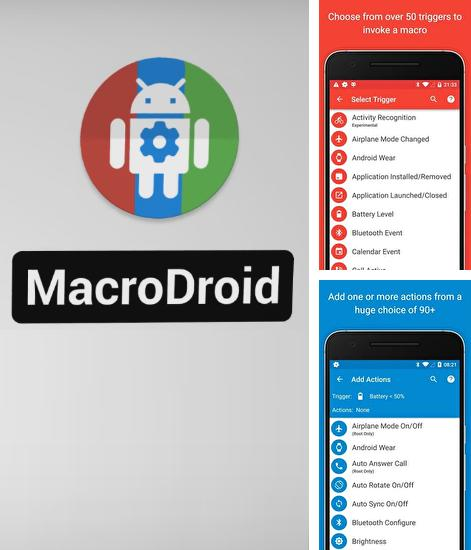 Besides Cache cleaner - Super clear cache & optimize Android program you can download MacroDroid for Android phone or tablet for free.