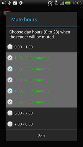 Capturas de tela do programa Mail reader em celular ou tablete Android.