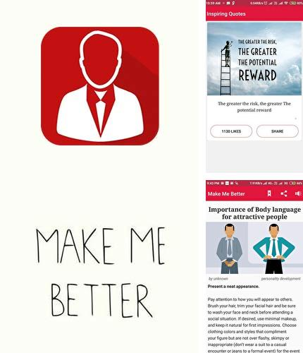 Además del programa Feedster - News aggregator with smart features para Android, podrá descargar Make me better - Personality dev & Motivation para teléfono o tableta Android.