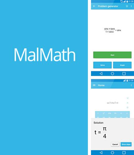 Besides Binary Options Robot Android program you can download MalMath: Step By Step Solver for Android phone or tablet for free.