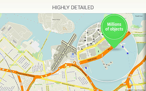 Screenshots of Maps.Me: Offline mobile maps program for Android phone or tablet.