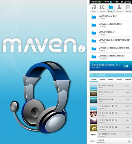 除了Weather live Android程序可以下载Maven music player: 3D sound的Andr​​oid手机或平板电脑是免费的。
