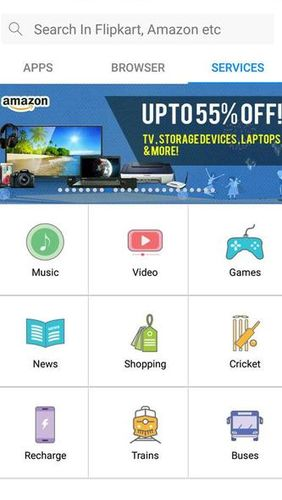Screenshots of M!Browser – Micromax browser program for Android phone or tablet.