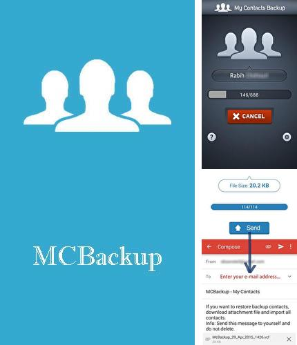 Descargar gratis MCBackup - My Contacts Backup para Android. Apps para teléfonos y tabletas.