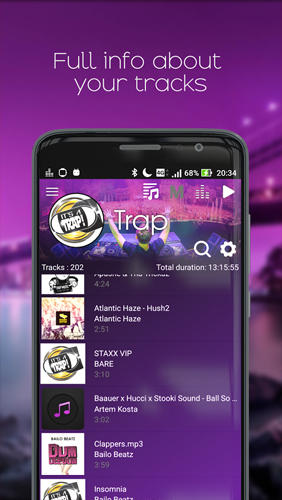 Capturas de tela do programa Megamix: Player em celular ou tablete Android.