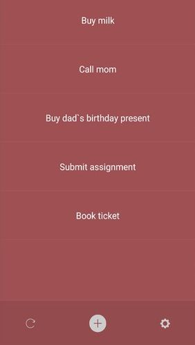 Capturas de pantalla del programa Memory helper: To do list notepad para teléfono o tableta Android.