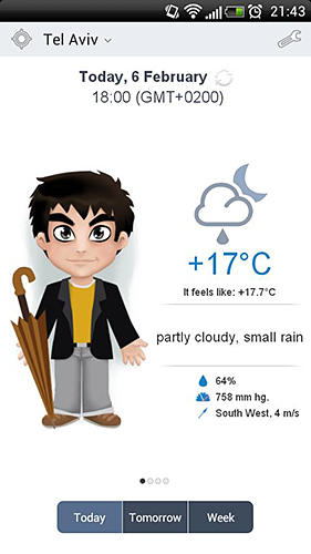 Download Meteoprog: Dressed by weather for Android for free. Apps for phones and tablets.