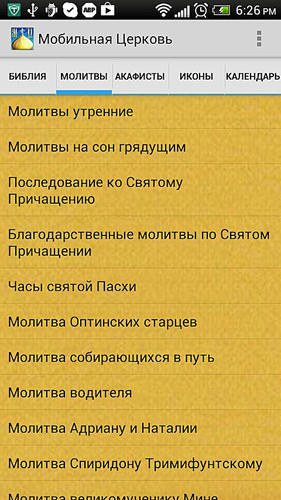 Les captures d'écran du programme Russian-english phrasebook pour le portable ou la tablette Android.