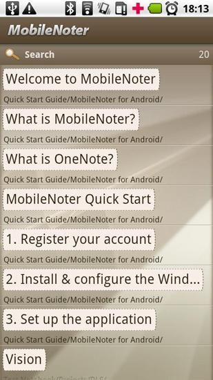 Mobile Noter app for Android, download programs for phones and tablets for free.