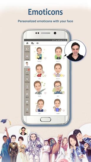 MomentCam: Cartoons and Stickers