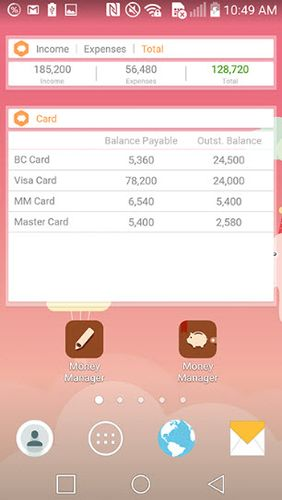 Програма Money Manager: Expense & Budget на Android.