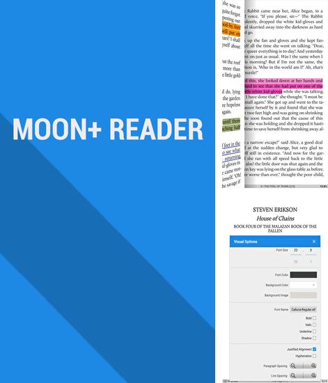 Besides Dodol keyboard Android program you can download Moon Reader for Android phone or tablet for free.