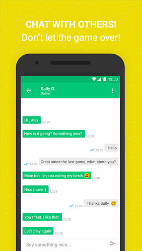 Screenshots des Programms Moove: Play Chat für Android-Smartphones oder Tablets.