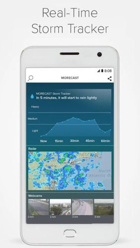 Aplicación Morecast - Weather forecast with radar & widget para Android, descargar gratis programas para tabletas y teléfonos.