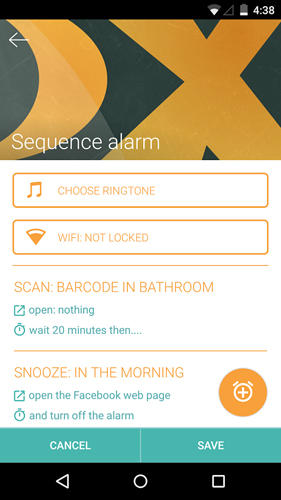 Capturas de pantalla del programa Morning routine: Alarm clock para teléfono o tableta Android.